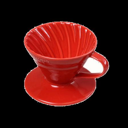 Воронка Hario- Пуровер (керамическая красная)